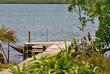 The dock to the Ampinihy Forest