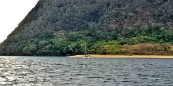 Boat anchored