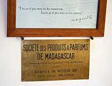 Sign for the Perfumery