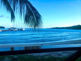 Our view from the Grenada Marina